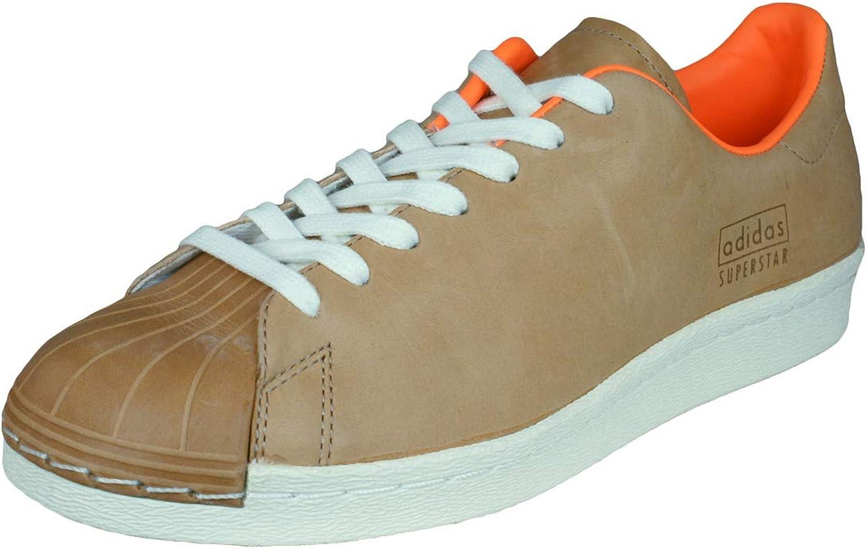 Adidas Originals Superstar 80s Clean Herren Turnschuhe Schuhe-braun-41.33