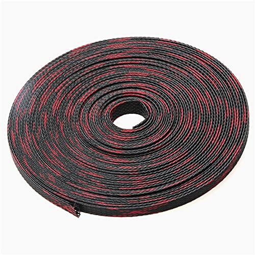 Funda Organizador Cables,Organizador Cables 50M RED &AMPBLACK MODAS DE CABLE MANGAS AISLAMIENTO...
