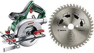 Bosch Cordless Circular Saw (Without Battery and Charger) + Kreissägeblatt Special für Verschiedene Materialien (Diameter ...