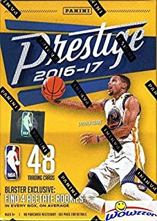 2016/2017 Panini Prestige NBA Basketball EXCLUSIVE Factory Sealed Retail Box with (4) ACETATE ROOKIES! Look for Rookies & Autographs of Brandon Ingram, Devin Booker, Jaylen Brown & Many More! WOWZZER!