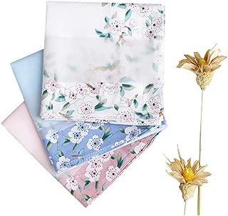 Ladies Handkerchiefs 100% Premium 60s Cotton Womens Hankies 17