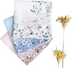 Ladies Handkerchiefs 100% Premium 60s Cotton Womens Hankies 17  (43cm) Square Hanky
