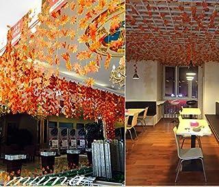 Olayer Lot de 12guirlandes de feuilles d'érable d'automne artificielles Idéales pour d&am...