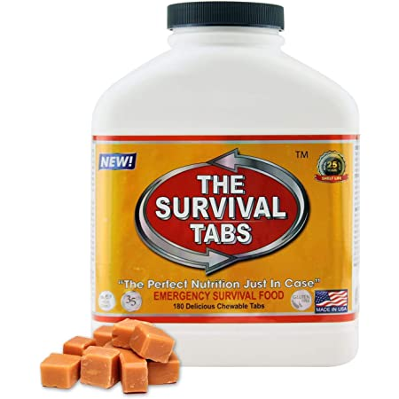 Survival Tabs 15 Day Survival Gluten Free 180 Tablet Emergency Food-Butterscotch