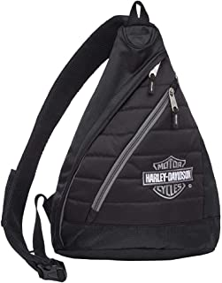 Harley-Davidson Womens Raven Convertible Genuine Leather Backpack HDWBA11165-BLK