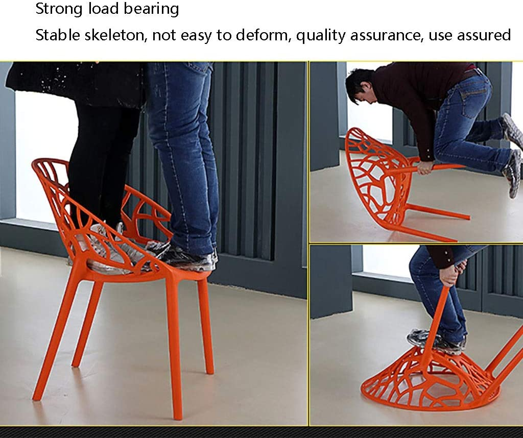 Chaise en Plastique Minimaliste Moderne Adulte Personnalité Créative Dinant La Mode Loisirs Paresseux Balcon (Color : White) Green