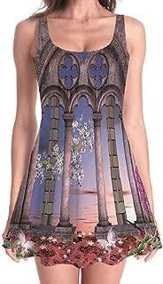 Gothic Decor Women's Cute Dress Brown Mini Party Dress Skater Dress