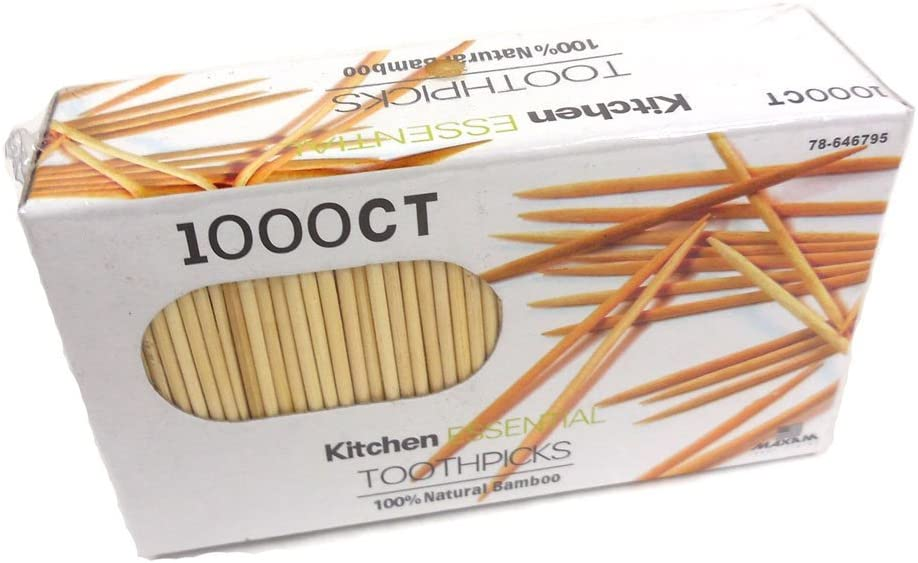 1000 Count 100% Natural Max 88% OFF Bamboo Toothpicks – Kitchen Memphis Mall Essenti