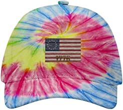 CCVWW Betsy Ross Flag Vintage American Flag 1776 Tie-Dye Cap Baseball Hat Personalized Design for Both Men and Women Kids