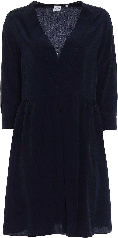 Aspesi Women's H622B75305098 bluee Cotton Dress