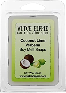 Coconut Lime Verbena Scented Wickless Candle Tarts, 6 Natural Soy Wax Cubes, A Clean Citrus Blend: Of Lime & Mandarin, Coconut & Verbena With a Notes Of Musk, Sandalwood & Cashmere Woods.