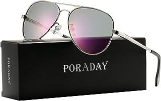 Polarized Aviator Sunglasses for Men Women Metal Frame 100% UV400 Protection Lens, 58mm