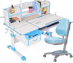 Kids Desk and Chair Set, Multifunctional Height Adjustable Study Table Workstation Kids Furniture Children Teens Study Tab...
