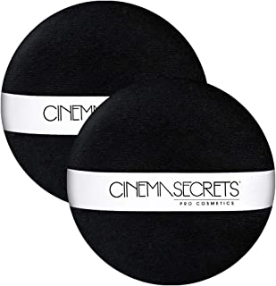 CINEMA SECRETS Deluxe Powder Puff  (Two Pack) Black Puff With Strap
