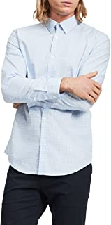 Men's Long Sleeve Button Down Check Shirt