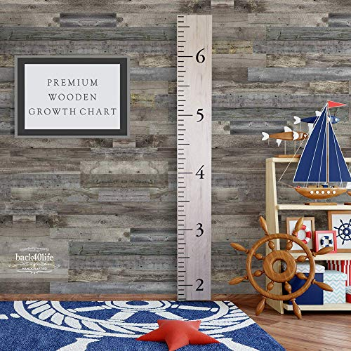 Back40Life - Premium Series - (The Benchmark) Wooden Growth Chart Height Ruler (Weathered Natural)
