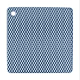 INTELLECTDOOR Silicone Pot Holders, Trivets for Hot Dishes - Thick Hot Pads for Kitchen, Heat Resistant Trivet (Squared, Blue)