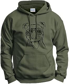 pitbull wearing hoodie