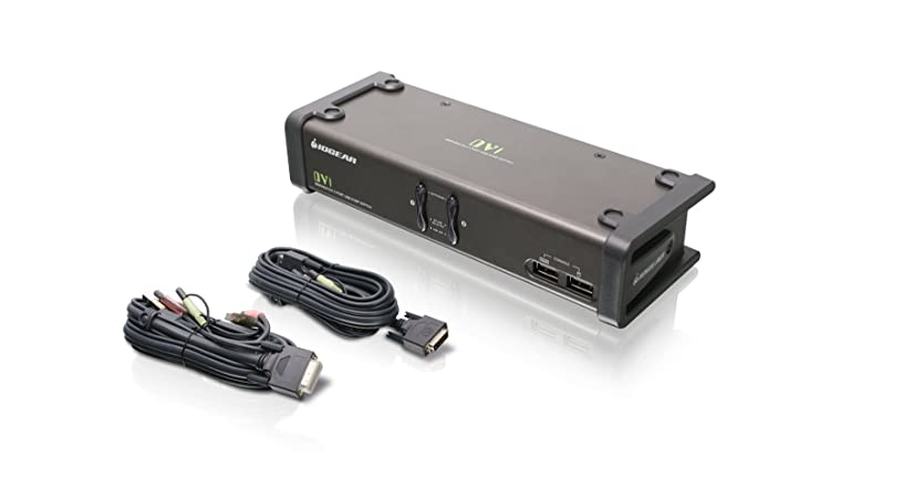 IOGEAR 2-Port DVI KVMP Switch w/Full Set of Cables, (GCS1102 TAA Compliant)