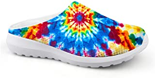 AXGM Men's Slippers Mesh Clogs Mules Beach Shoes Watercolour Graffiti Blue Circle Graphic Lightweight Slippers Unisex Casu...