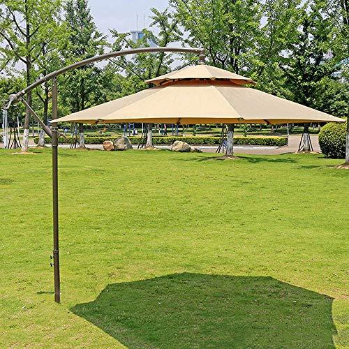 NMDD Banana Outdoor Cantilever Umbrella Large Hanging Beach Umbrella UV Protection With Crank Mechanism 270cm