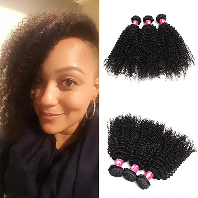 Forawme Curly Brazilian Virgin Human Hair Weave