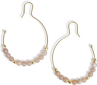 Lucky Brand Stone Beaded Hoop Earrings, Gold