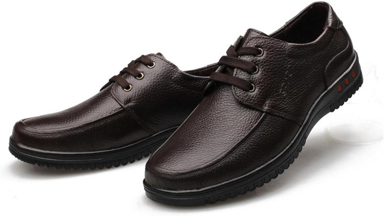WZG Men 's business casual shoes men' s shoes with round shoes shoes round shoes , brown tie , 44