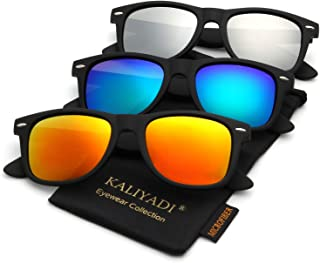 d2807f7a2eae Polarized Sunglasses for Men and Women | Matte Finish Sun glasses | Color  Mirror Lens