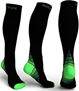 Physix Gear Sport Compression Socks for Men & Women 20-30 mmHg – Athletic Fit