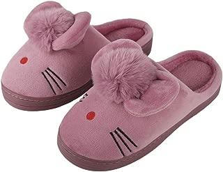 IRSOE Velvet Anti-Slip Soft Bottom Wool Slip-On Indoor & Outdoor Winter Slippers for Women and Girls