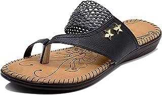 Myra Women's Braided Strap Embellished Flat Sandals - MS1248C