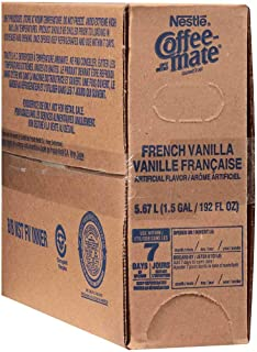 Coffee-Mate French Vanilla Liquid Bulk Creamer - 192 oz. pack, 3 packs per case