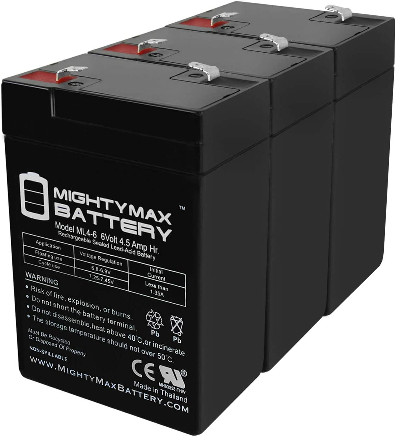 Mighty Translated Max Battery Popular products 6V 4.5AH Replacement BP4.5 SLA BB for