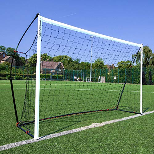 QUICKPLAY Kickster Academy Soccer Goal 8x5' | The Original Ultra Portable Soccer Goal Includes Soccer Net and Carry Bag [Single Goal]