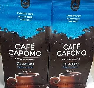 Capomo Herbal Coffee Substitute - Acid Free, Caffeine Free And Gluten Free - Natural Dark Roast - Organic Maya Nut , Ramon Seeds - 2 Pack From Tattva's Herbs