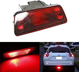 iJDMTOY JDM Style LED Rear Fog Light For 2011-2014 Nissan Juke, 2014-2016 Nissan Rogue, 2015-up Nissan Murano, OEM Replacement Powered By High Power Brilliant Red LED Bulb