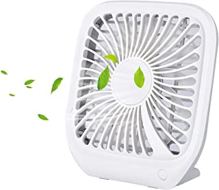 Slotal Small Personal USB Desk Fan, 3 Speeds Ultra-Thin Portable Desktop Table Cooling Fan Powered by USB, Strong Wind, Quiet Operation, for Home Office