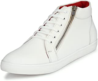 San Frissco Men's White Sneakers-8 UK/India (42 EU) (EC 4140_WHT-8)