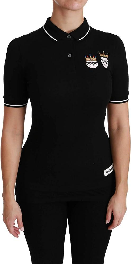 Dolce & gabbana, t-shirt polo, maglietta da donna, 100% cotone TSH4450-38
