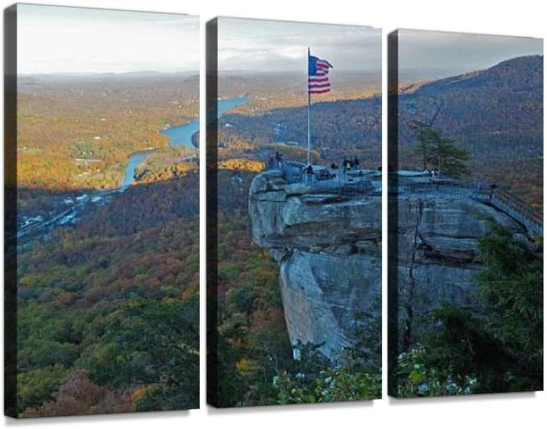 American Flag ATOP Weekly update Chimney Rock Mount Limited time cheap sale Carolina North State Park