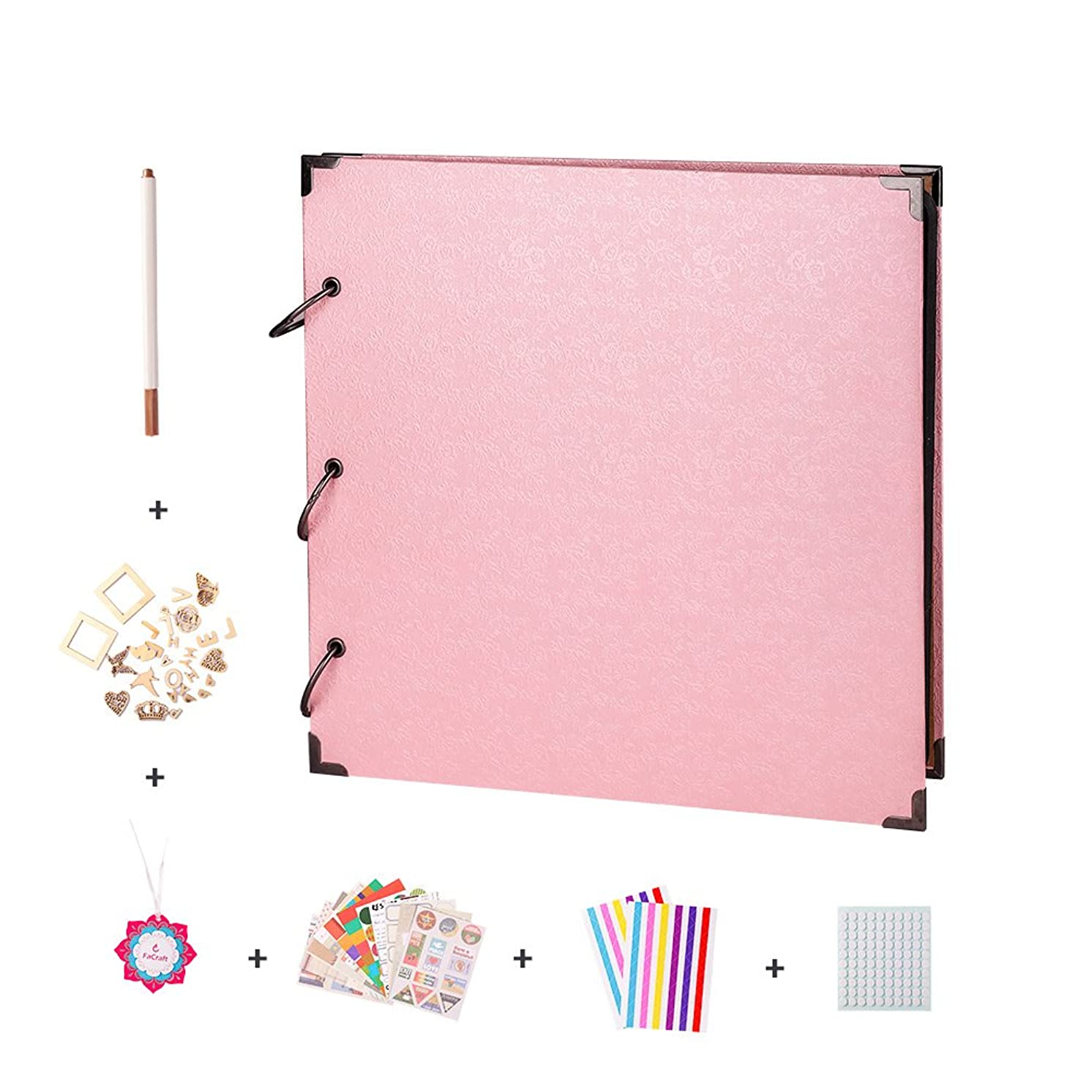 FaCraft 12x12 Scrapbook Album and Accessories (Pink)