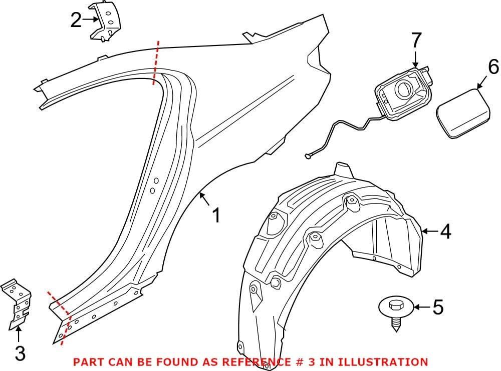 Genuine OEM Driver Left Lower Quarter Translated BMW Popular products For Panel G30 Bracket