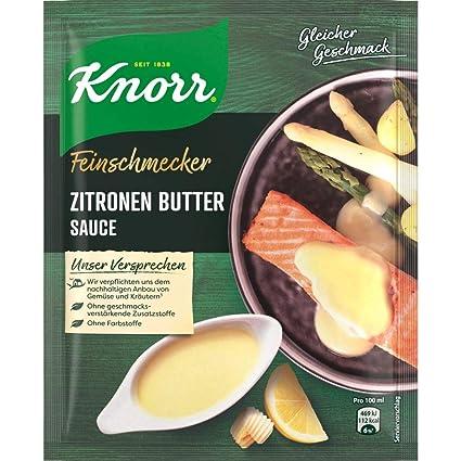 Knorr Feinschmecker Sauce Zitronen Butter 10er Pack 10 X 250 Ml Amazon De Lebensmittel Getranke
