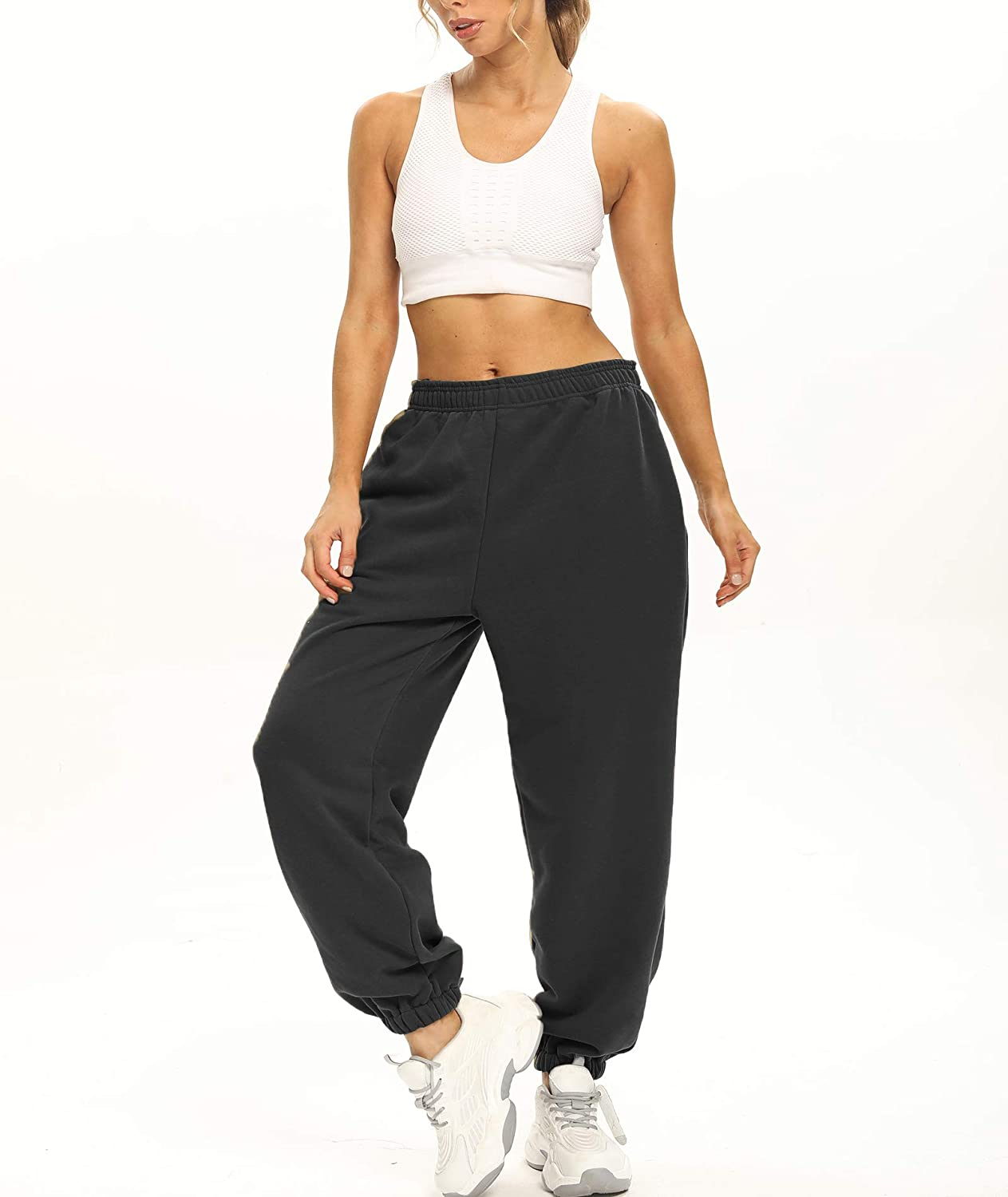 Ausook Womens Sweatpants for Women with Pockets Womens Jogger Sweatpants Women Cotton Womens Joggers for Women