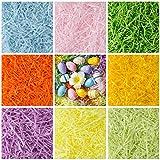 Naler 450 Gramos Papel de Seda en Tiras Relleno de Cesto de Pascua 8 Colores para Rellenar Caja de Regalo Decoración de Pascua
