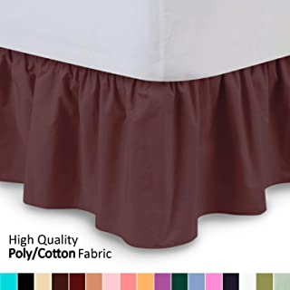 Best burgundy bed skirt queen Reviews