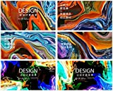 Colorful oil painting paint fusion lava flow ripple lines KV primary visual material vector Ai design 0273