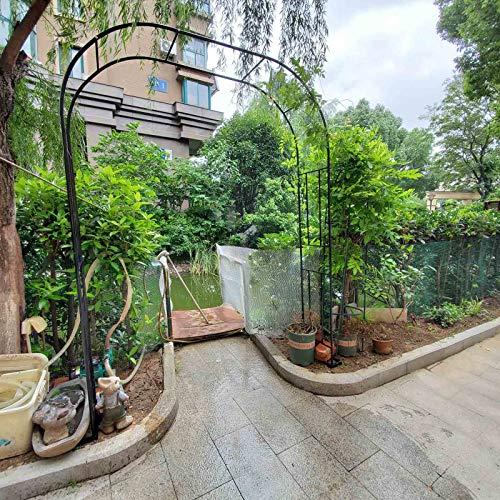 HRXQ Metal Arch Wedding Arbor Decorations, Garden Arbor for Various Climbing Plant, Outdoor Garden Lawn Backyard, 7 Sizes - Black,Golden & White