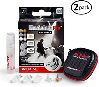 Alpine MusicSafe Pro Hearing Protection for Musician, Transparent (2-Pack)
